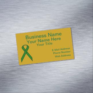 Emerald Green Standard Ribbon Business Card Magnet