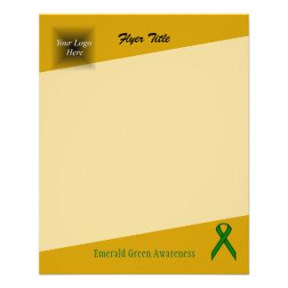 Emerald Green Standard Ribbon by Kenneth Yoncich Flyer