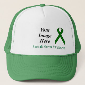 Emerald Green Standard Ribbon by Kenneth Yoncich Trucker Hat