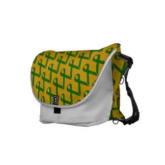 Emerald Green Standard Ribbon Messenger Bag