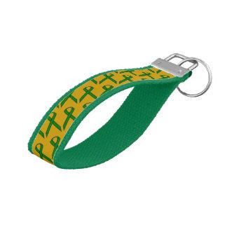 Emerald Green Standard Ribbon Wrist Keychain