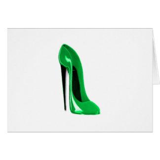 Emerald Green Stiletto Shoe Card