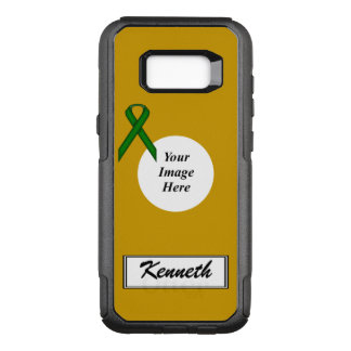 Emerald Green Stnd Ribbon Tmpl by Kenneth Yoncich OtterBox Commuter Samsung Galaxy S8+ Case