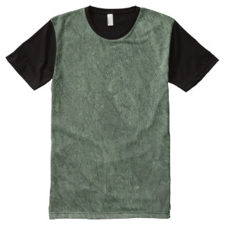 Emerald Green Stone Pattern Background All-Over-Print T-Shirt