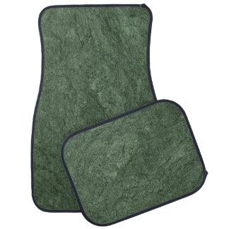 Emerald Green Stone Pattern Background Car Floor Mat