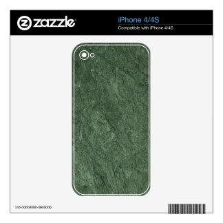 Emerald Green Stone Pattern Background Decal For The iPhone 4S