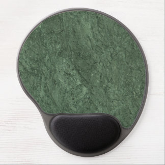 Emerald Green Stone Pattern Background Gel Mouse Pad