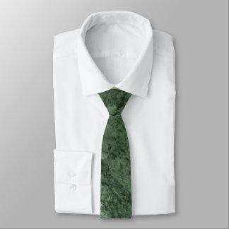 Emerald Green Stone Pattern Background Necktie
