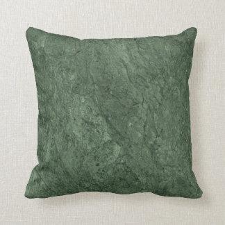 Emerald Green Stone Pattern Background Pillow
