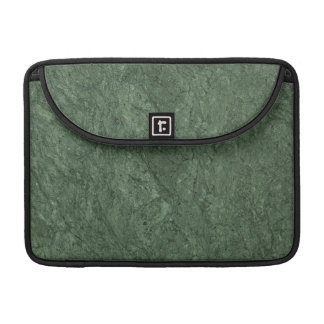 Emerald Green Stone Pattern Background Sleeve For MacBooks