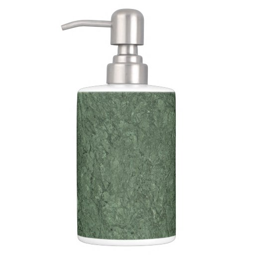 Emerald green stone pattern background soap dispenser and for Emerald green bathroom accessories