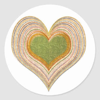 Emerald Green Sweet Hearts -   Kids Store Classic Round Sticker