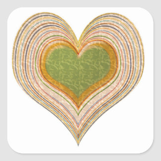 Emerald Green Sweet Hearts -   Kids Store Square Sticker