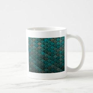 Emerald Green Teal Geometric Pattern Coffee Mug