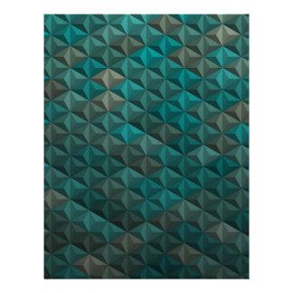 Emerald Green Teal Geometric Pattern Letterhead