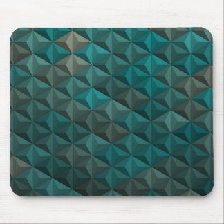 Emerald Green Teal Geometric Pattern Mouse Pad