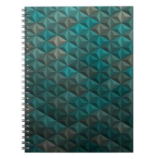 Emerald Green Teal Geometric Pattern Notebook