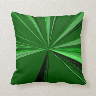 Emerald Green Vanishing Point Pillow by Janz