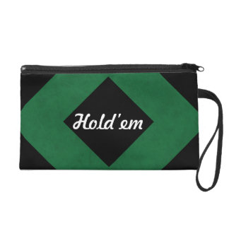 Emerald Green Velvet Personalized Home Casino Wristlet Purses