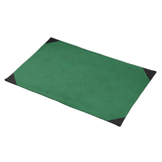 Emerald Green Velvet Personalized Home Casino Cloth Placemat