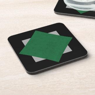 Emerald Green Velvet Personalized Home Casino Beverage Coasters