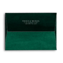 Emerald Green Watercolor Return Address A7 Envelope