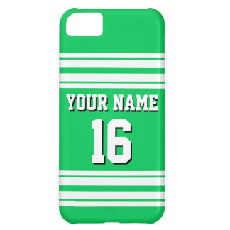Emerald Green White Team Jersey Custom Number Name iPhone 5C Case