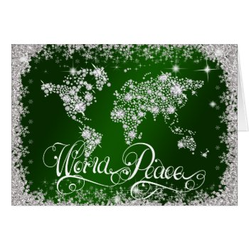 Emerald Green WORLD PEACE Diamonds PERSONALIZED Card