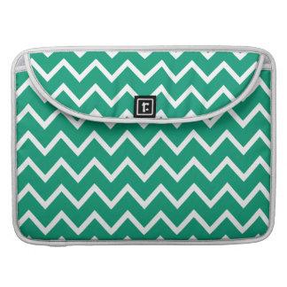 Emerald Green Zig Zag Chevron MacBook Pro Sleeve