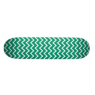 Emerald Green Zig Zag Chevron Skateboard Deck