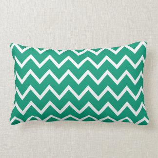 Emerald Green Zig Zag Chevron Throw Pillow