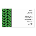 Emerald Green Zigzags inspired by Knitting. Business Card Template