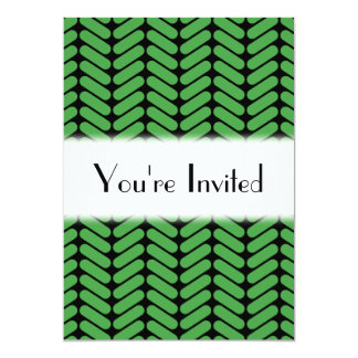 Emerald Green Zigzags inspired by Knitting. Card