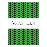 Emerald Green Zigzags inspired by Knitting. Invites