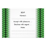 Emerald Green Zigzags inspired by Knitting. Personalized Invites