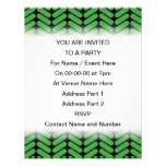 Emerald Green Zigzags inspired by Knitting. Custom Invites