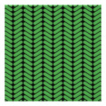 Emerald Green Zigzags inspired by Knitting. Invitation