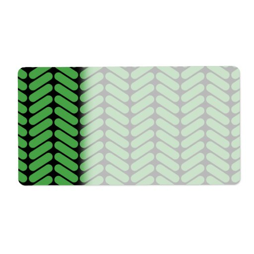 Emerald Green Zigzags inspired by Knitting. Personalized Shipping Label