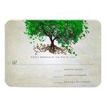 "Emerald Heart Leaf Tree Wedding Invites 3.5"" X 5"" Invitation Card"