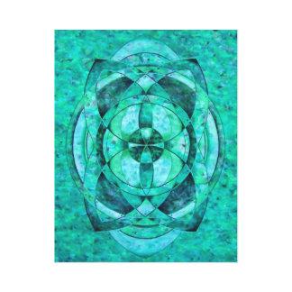 Emerald heart Mandala Canvas Print