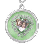 Emerald Heart Photo Necklace