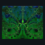 "Emerald Impressions Photo Print<br><div class=""desc"">A digital fractal design. This delicate abstract design is in shades of green and blue.</div>"