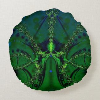 Emerald Impressions Round Pillow