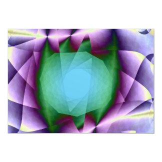 Emerald in Flower Petals Card