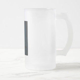 Emerald in the Deep Blue Frosted Glass Beer Mug
