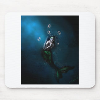 Emerald in the Deep Blue Mouse Mat