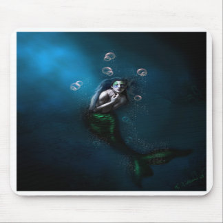 Emerald in the Deep Blue Mouse Mats