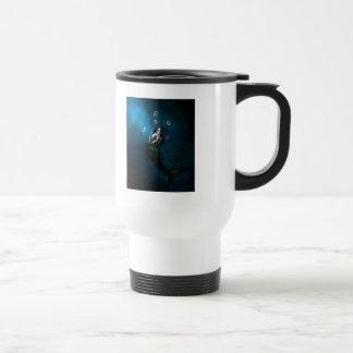 Emerald in the Deep Blue Travel Mug