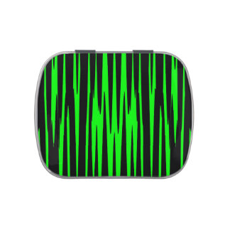 EMERALD ISLE (an abstract art design) ~ Jelly Belly Candy Tin