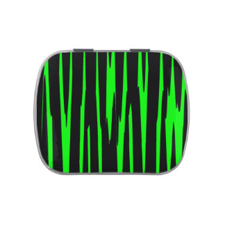 EMERALD ISLE (an abstract art design) ~ Jelly Belly Tin
